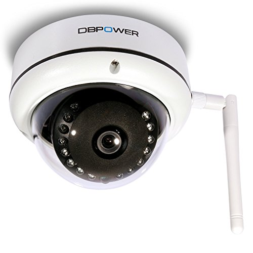 Cheapest Prices! 3.6mm Lens 1.0 MP HD Wireless IP Camera Dome, DBPOWER 8G Built-in TF Card 720P Secu...