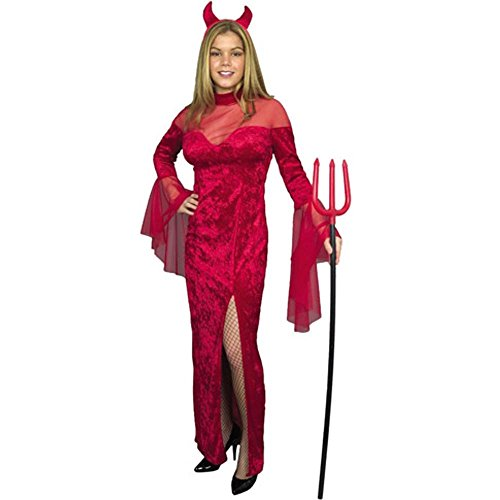 Red Devil Dress Costume (Size: Medium 8-10)