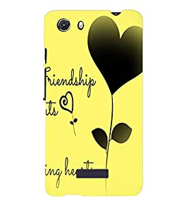 Fuson Meaningful Text Back Case Cover for MICROMAX Q372 UNITE 3 - D3878