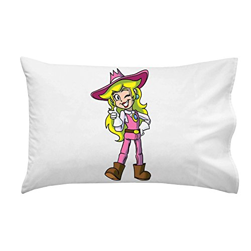 """Plumbing Story"" Western Cowgirl Hero Character Funny Video Game & Children'S Cartoon Movie Parody - Pillow Case Single Pillowcase front-803554"