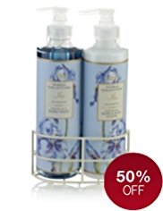 Floral Collection Iris Twin Rack Gift Set