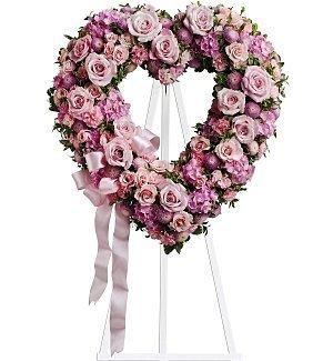 Funeral Flowers - Rose Garden Heart