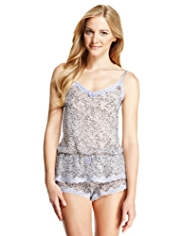 Limited Collection Frosted Faux Snakeskin Print Camisole & Shorts Set
