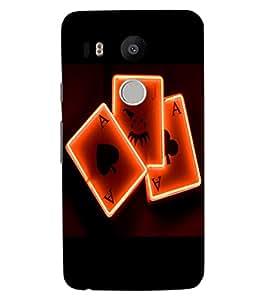 ColourCraft Digital Cards Design Back Case Cover for LG GOOGLE NEXUS 5X