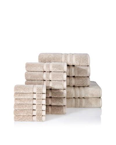 Chortex Irvington 17-Piece Towel Set, Flax
