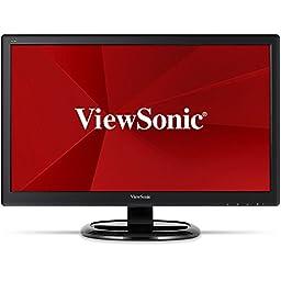 ViewSonic VA2465smh 24-Inch SuperClear MVA LED Monitor (Full HD 1080p, HDMI/VGA, Integrated Speakers, Flicker Free)