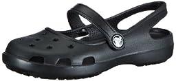 Crocs Women\'s Shayna Mary Jane Clog,Black,6 M US