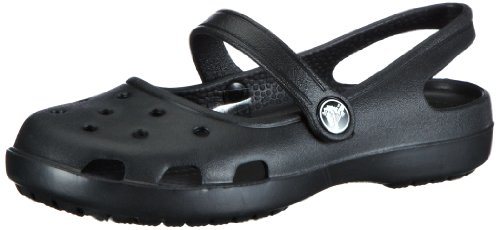 Crocs Women's Shayna Mary Jane Clog,Black,6 M US