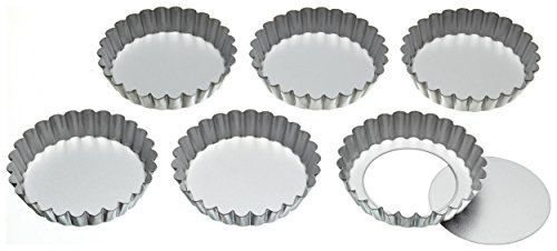 kitchencraft-stainless-steel-fluted-tartlet-tins-with-loose-bases-10-cm-set-of-6
