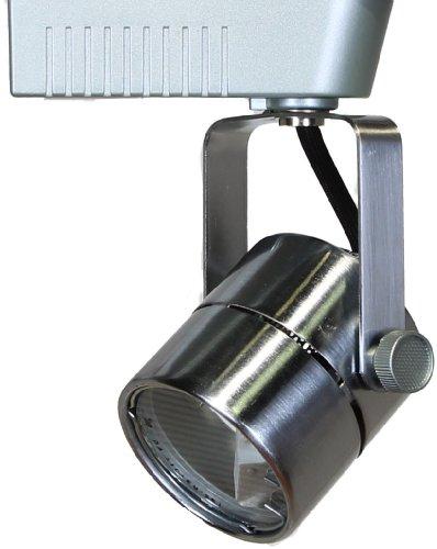 Direct-Lighting 50010 Brushed Steel Mr16 Cylinder Low Voltage Track Lighting Head