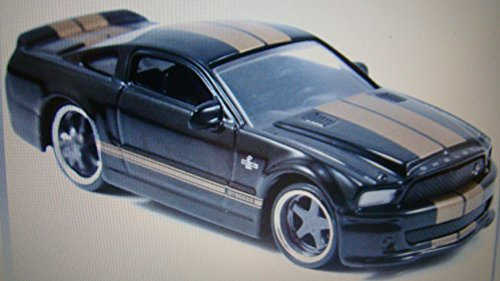 2008 Ford Shelby GT500KR - Black w/ Gold Stripes 1:64 - Jada Bigtime Muscle - 1
