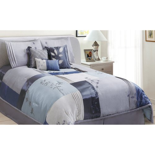Epoch Hometex, Inc Back To Nature Twin Bed Set, Blue front-993179