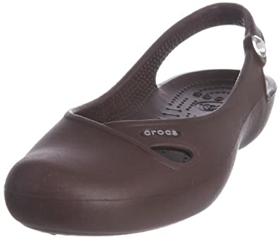 Crocs Women's Olivia Slingback Flat,Brown,4 M
