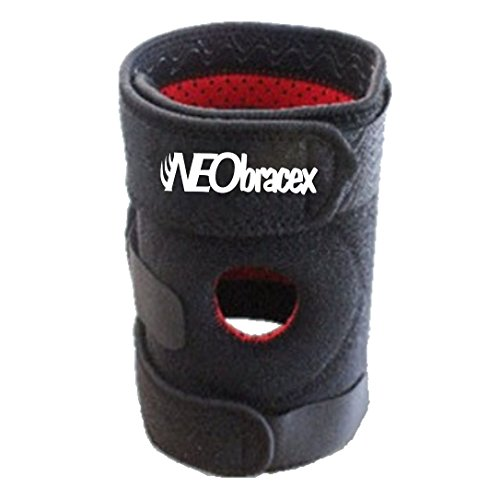 ACL Knee Brace, Patella Stabilizer, Tendonitis Brace - Pain Relief for Repetitive Stress Injury. Fully Adjustable Knee Support by NEObracex (Black - Right Knee) (Dial Triple Action compare prices)