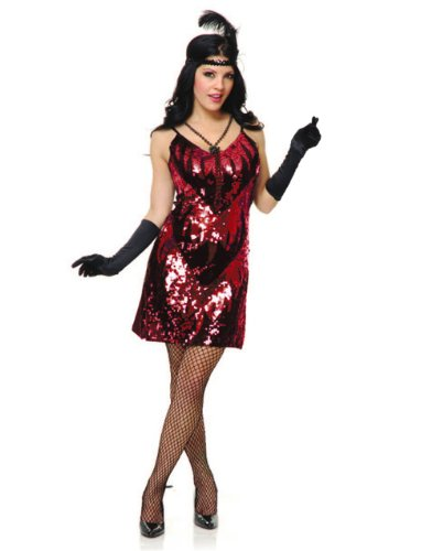 Unknown Women's 20s Flapper Girl Sequin Dress Costume