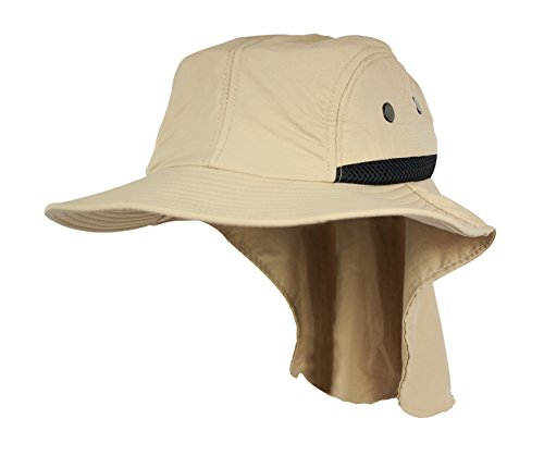 Fishing Hat, Gardening Hat-Best Neck Flap Hat-Adjustable Size for Perfect Fit even with Larger Heads-Quality Hat for Men or Women--Keeps the sun off neck and head-high UPF rating--Great for summer (Vented Fishing Hat compare prices)