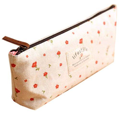 Sac maquillage trousse stylo floral stockage porte monnaie - Pochette maquillage pas cher ...