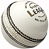 Kolagen Sports Super League White Leather Cricket Ball- Pack Of 6 Ball