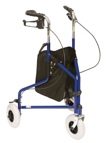 ProBasics 1038BL 3 Wheeled Aluminum Rollator With Loop Brakes Blue (Three Wheeled Walker compare prices)
