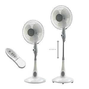 50 Watt 40cm Standventilator mit Zeitschaltuhr und Fernbedienung Ventilator