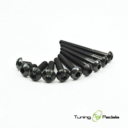 M5 Titan Schraube nach ISO 7380, Linsenkopf in schwarz