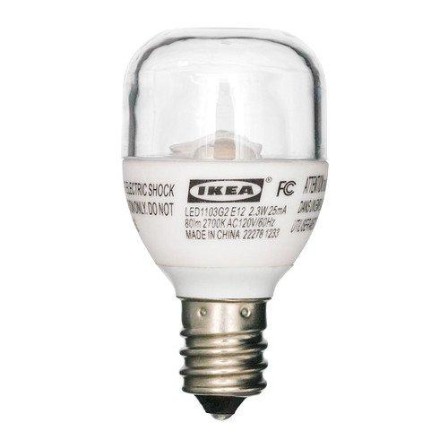 Ikea LEDARE LED bulb E12, 80 Lumens, 2.3 Watts, Sign Clear (Ledare Bulb compare prices)