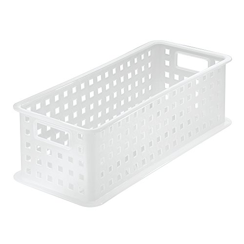 InterDesign Storage Organizer Basket, for Bathroom, Health and Beauty Products, Bath Towels - Large, Frost (Bathroom Modular compare prices)