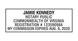Notary Stamp for State of Virginia- Self Inking Stamp, Customize Online