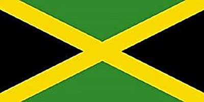Jamaica Flag 8ft x 5ft Huge - 100% Polyester - Metal Eyelets - Double Stitched