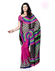 Shariyar Multi Color Art Silk Printed Saree PRG350