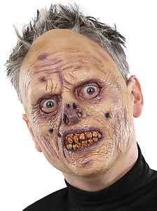 Flesh Eating Zombie Mask (Horror Flesh Grey Makeup)