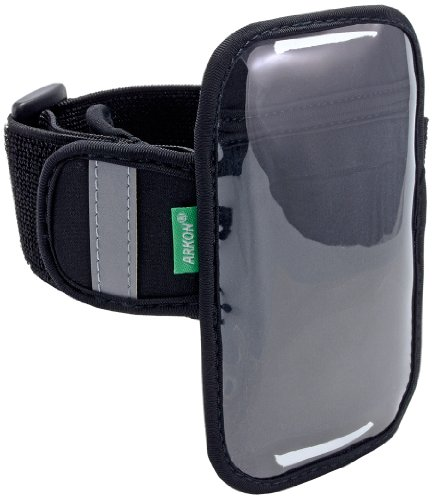 Arkon XXL-ARMBAND Sports Armband for Large Smartphones, Compatible with Droid(Tm) Razr by Motorola(R), Samsung(R) Infuse(Tm) 4G (Black)