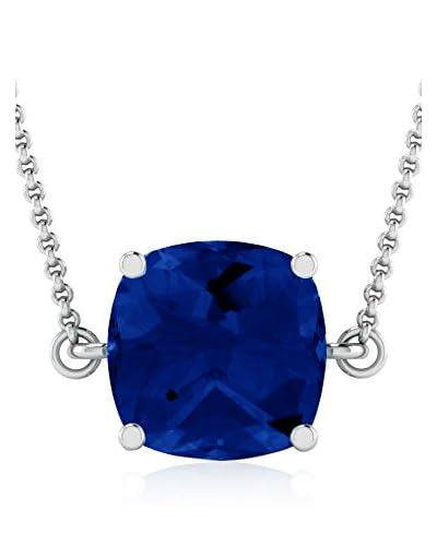 Art Of Diamond Collana Blue Sappire White Gold