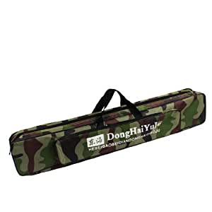80cm camouflage nylon 3 compartments fishing gear pole for Amazon fishing gear