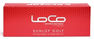 Dunlop Loco Distance Golf Balls, Pack of 12 by Dunlop