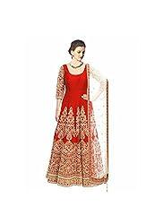 vaankosh fashion women Orange cotton designer bollywood style Dress Materials /partywear Dress Materials/heavy embroidered Dress Materials