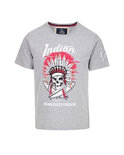 THE INDIAN FACE Camiseta Manga Corta Gris Claro