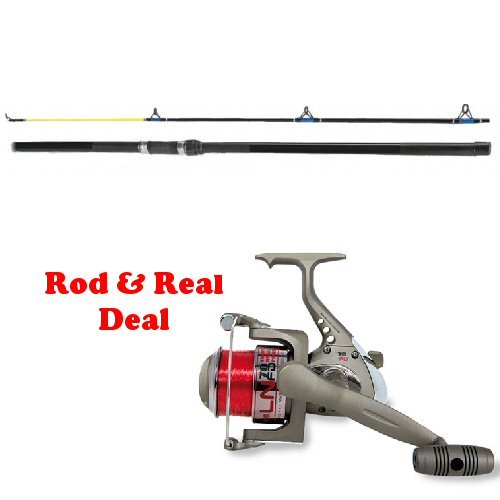 SFE Fladen 12ft Beachcaster Rod and LN70 Reel with 20lb line - Sea Fishing Kit