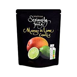 Fruity Coulis Mango & Lime Waitrose 200g - Pack of 4