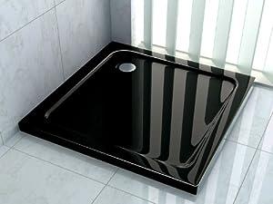 120x120 duschtasse duschwanne extra flach 50 mm rechteck schwarz baumarkt. Black Bedroom Furniture Sets. Home Design Ideas