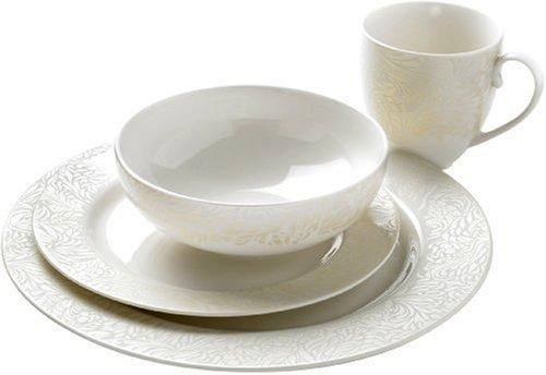 Best Deal Denby Monsoon Lucille Dinnerware Box Set, Gold, 16 Piece ...