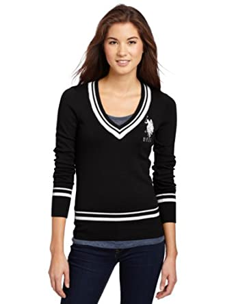 US Polo Assn. Juniors Sweater With Big Pony, Black, Medium