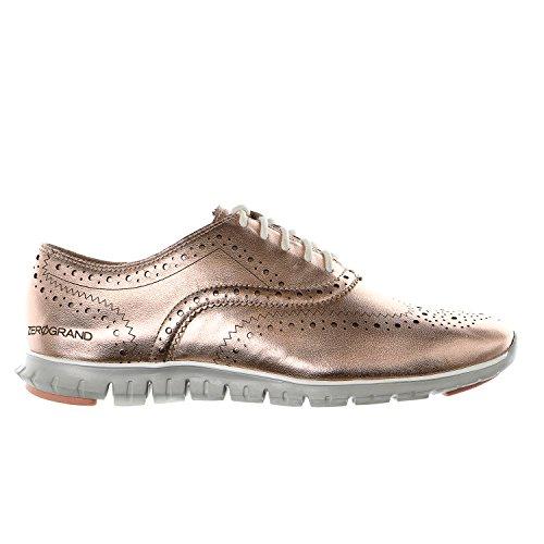 ea881a2e75 Cole Haan Zerogrand Wing Oxford Casual Fashion Sneaker - Rose Gold Metallic  - Womens - 8