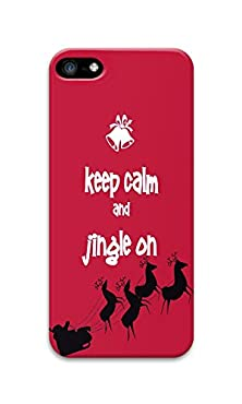 buy Phone Case Custom Iphone 5C Phone Case Keep Calm And Jingle On Polycarbonate Hard Case For Apple Iphone 5C Case