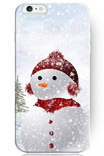 Sprawl New Vintage Design Personalized Hard Plastic Snap On Slim Fit Cute Snow Baby 5.5 Inch Iphone 6 Plus Case Christmas front-1039340