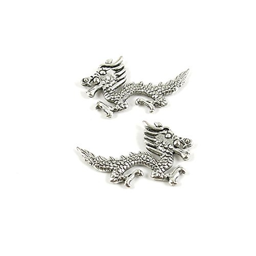 20x Ancient Silver Fashion Jewelry Making Charms 14019 Dragon Wholesale Supplies Pendant Retro DIY Craft Alloys Lots Repair Jewellery Findings Accessoires