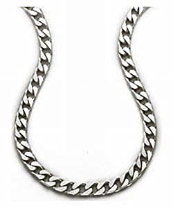Mens Plain Necklace Silver Chain 51cm Length Model Sc31720
