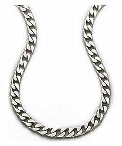 Ornami Men's Plain Necklace, Silver Chain, 50cm Length, Model SC317/20