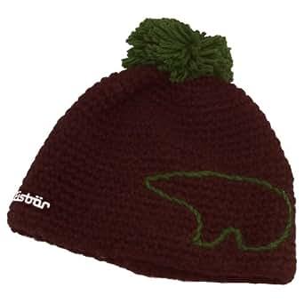 Eisbär - Winter Cap Jay Pompon - Size One Size - dark brown/dark green