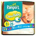 Pampers Nappies New Baby Size 1 (Newborn) 2-5kg/4-11lbs 25 Nappies x Case of 4